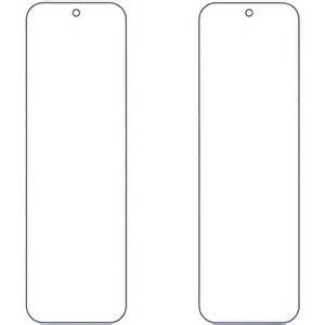 Bookmark template colouring pages