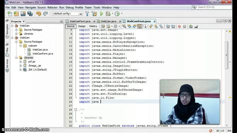 netbeans tutorial for c tutorial netbeans with java webcam application capture