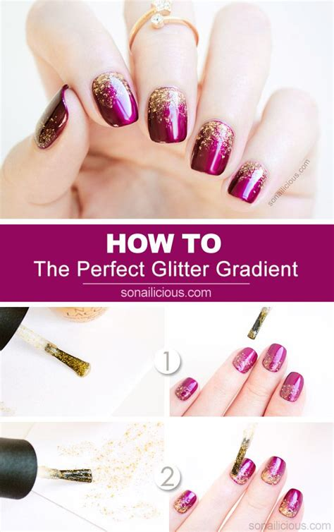 mint and gold gradient glitter nail art tutorial makeup 2 genius tips for a perfect glitter gradient tutorial