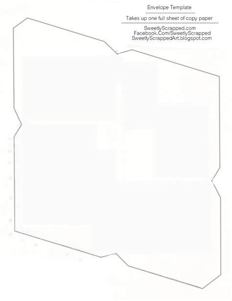 8 5 x 11 envelope template sweetly scrapped free printable envelopes