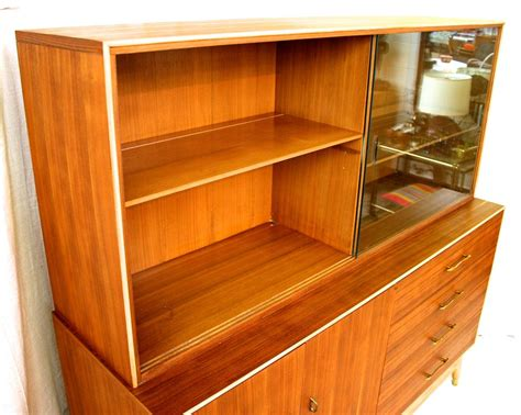 1960s China Cabinet by Mid Century Modern Teak China Cabinet By Rway Circa 1960