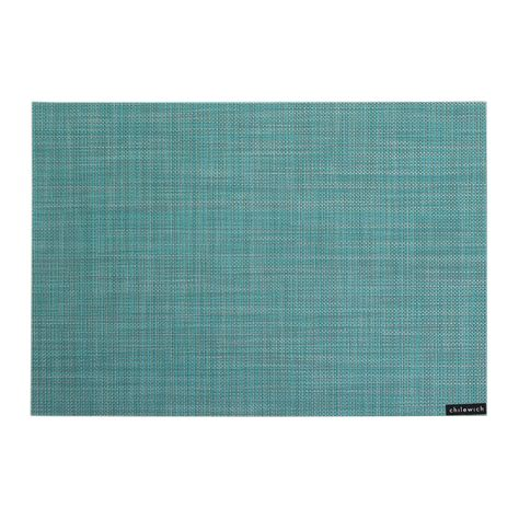 Turquoise Place Mats by Buy Chilewich Mini Basketweave Rectangle Placemat