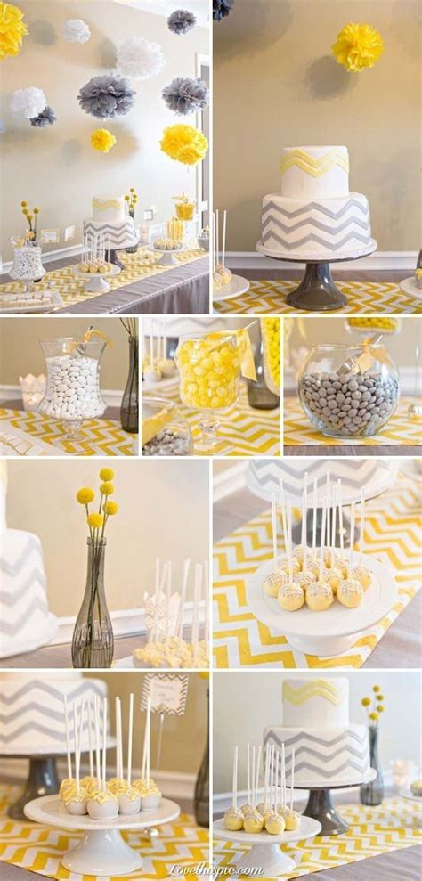 Yellow Themed Baby Shower by Gray And Yellow Chevron Themed Baby Shower Cake Gray