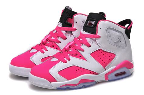 white jordans shoes new air 6 gs white pink shoes for sale