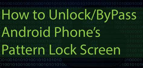 unlock pattern android sdk hunter x technology