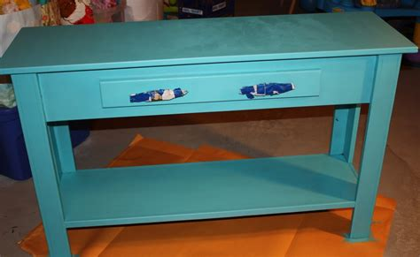 Blue Entryway Table Craft Projects Blue Entry Table
