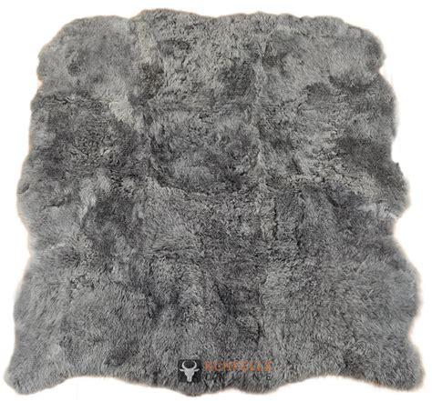 lammfell teppich lammfell teppich grau gef 196 rbt 170 x 170 cm kurzwollig bei