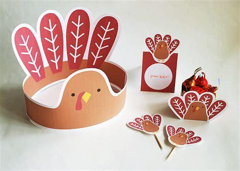 printable turkey hats 4 super fun thanksgiving printables for kids handmade