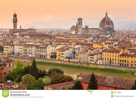 time out florence city florence city during sunset royalty free stock images image 36175289