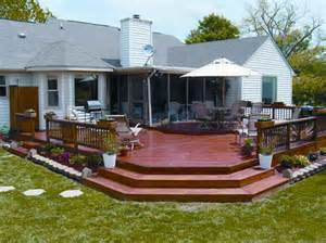 Deck With Patio Designs Outdoor Wood Deck Designs With Color Wood Deck Designs Deck Design Deck Deck Ideas As