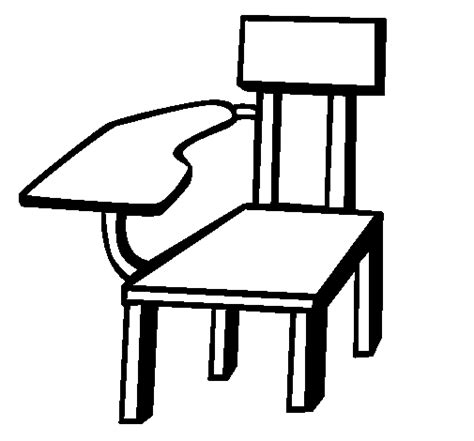 Coloring Desk For by School Desk Coloring Page