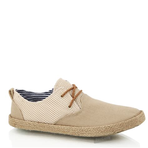 mens boys casual lace smart canvas mesh espadrilles jute