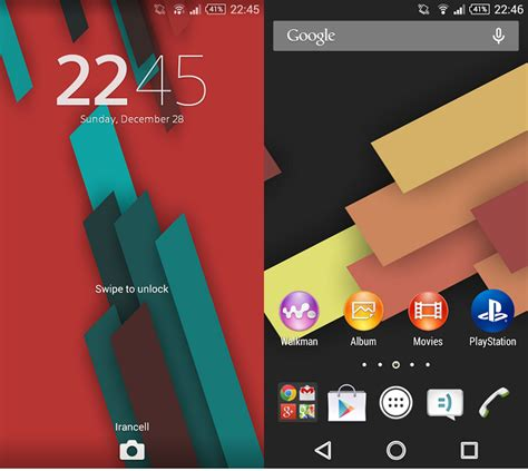 download themes for rooted android device install android 5 0 based xperia themes working on non
