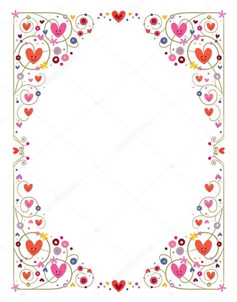cornice vettoriale cornice cuori decorativi carino vettoriali stock