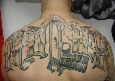tattoo gun back 64 ultra modern gun tattoos for back