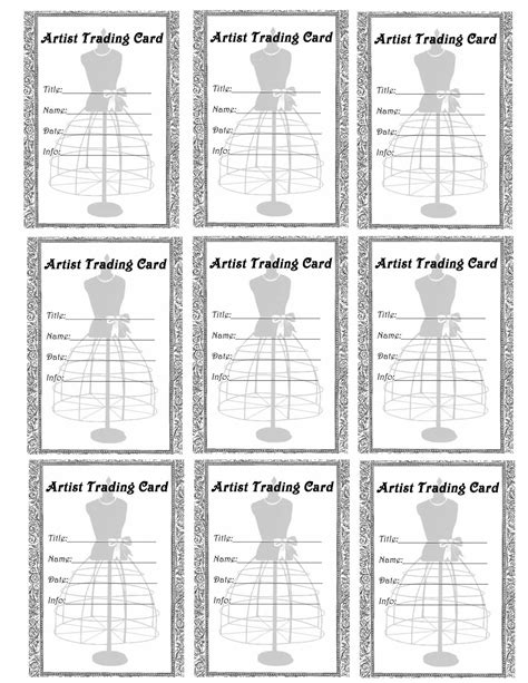 Free Vintage Digital Stamps Free Printable Artist Trading Card Dress Form Label Card Label Template