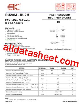 eic rectifier diodes eic rectifier diodes 28 images prv 50 1000 volts io 5 0 eres datasheet catalog ultra fast