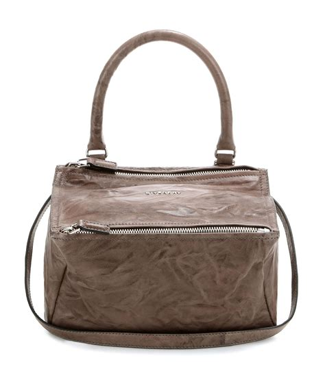 Givenchy Small Pandora givenchy pandora small leather shoulder bag in brown lyst