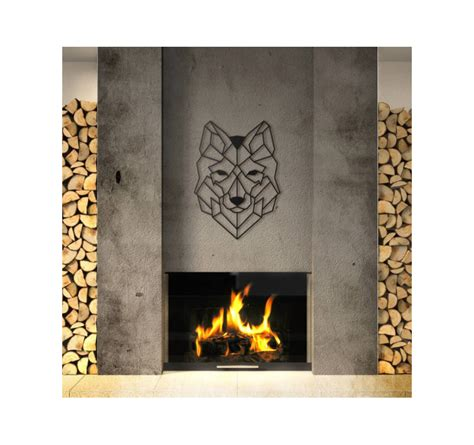 Decoration Loup by D 233 Coration Murale M 233 Tal Loup Artwall And Co