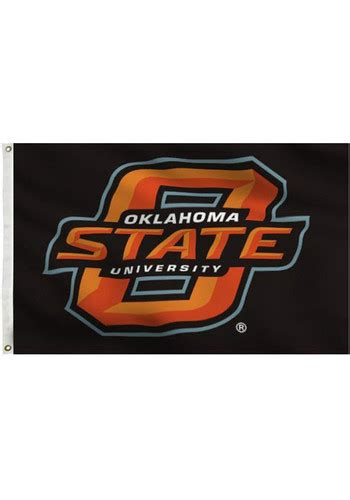 Oklahoma State Mba Cost by Oklahoma State Cowboys 3x5 Black Grommet Black Silk Screen