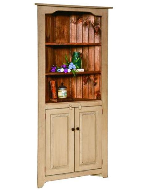 Handmade Hutches - corner china hutch kitchen cabinet country farmhouse amish