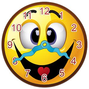 Jen House Design Smiley Face Clock Widget Android Apps On Google Play