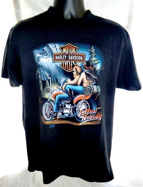 Kaos Harley Davidson Tokyo Japan hold vintage 1991 3d emblem harley davidson t shirt