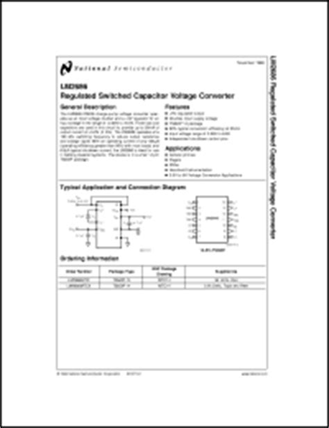 capacitor package datasheet national semiconductor lm2686 series datasheets lm2686 lm2686mtc lm2686mtcx datasheet