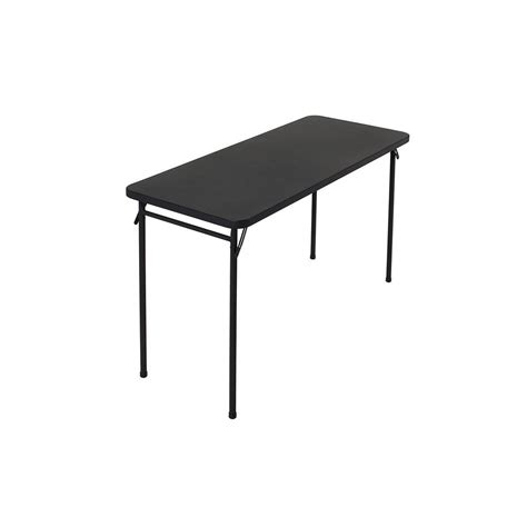 24 x 48 folding table home depot cosco 20 in x 48 in abs black top folding table