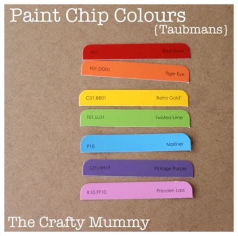 how to get a paint chip off the wall weekly calendars the crafty mummy