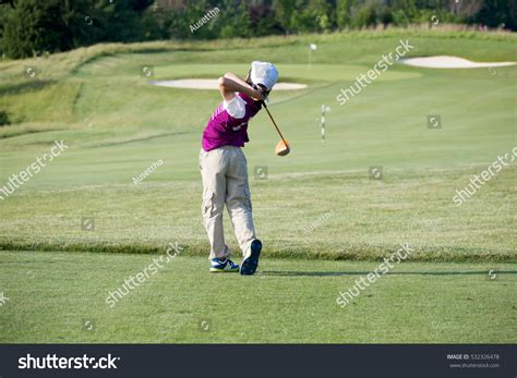 perfect golf swing driver perfect golf swing by 9 years stock photo 532326478