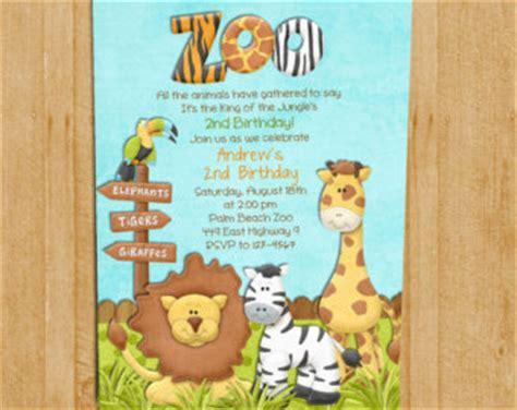free printable zoo birthday cards zoo invitation etsy