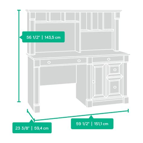 sauder palladia computer desk with hutch in cherry palladia computer desk and hutch select cherry 420513