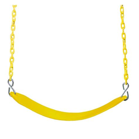 swing with chain gorilla playsets swing belt with chain in yellow 04 0002 y