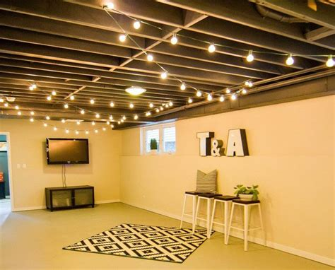 25 best ideas about basement lighting on basement living rooms basement paint