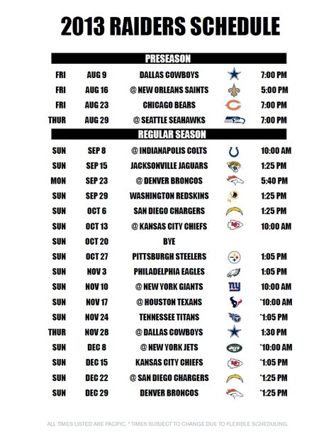printable raiders schedule 2015 saints 2014 2015 preseason autos post