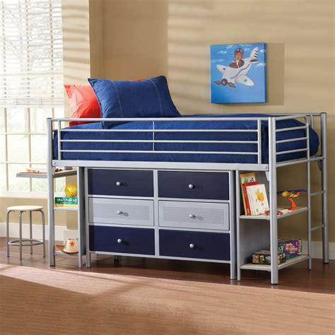 loft bed with desk and drawers stompa drawers kids avenue kurt midsleeper cabin bed