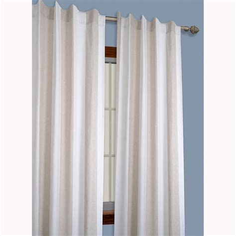 Striped Linen Curtains China Striped Yarn Dyed Linen White Window Curtain Pair 84 In China Curtain