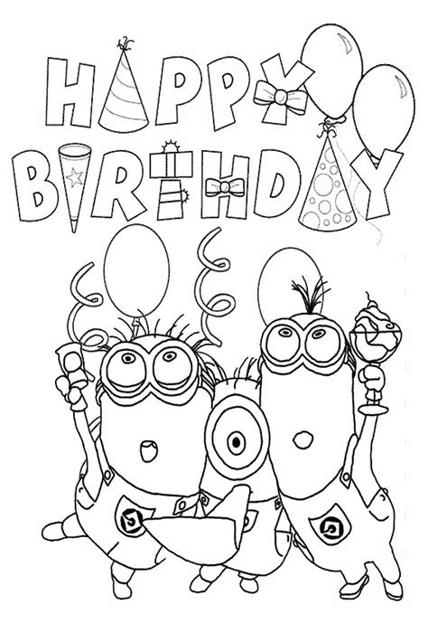 birthday coloring page happy birthday coloring pages to color in on your birthday