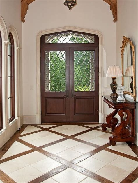 houzz tile entryway design ideas remodel pictures mixed flooring houzz