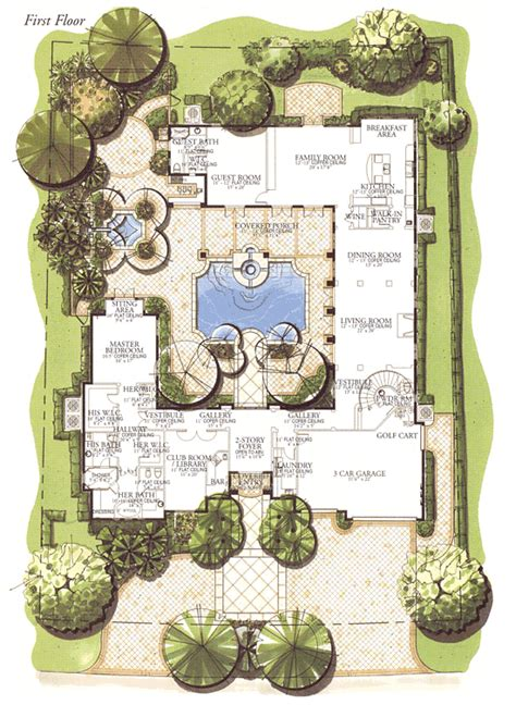 single level house plans with courtyard courtyard house floor plans