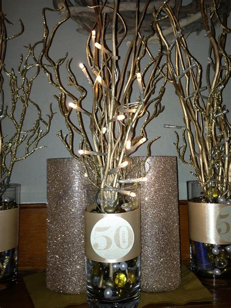 50 Th Anniversary Centerpiece Formal Party Ideas Pinterest Centerpieces For 50th Birthday