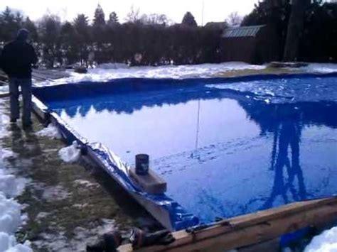 how to make an ice rink in backyard backyard hockey rink doovi