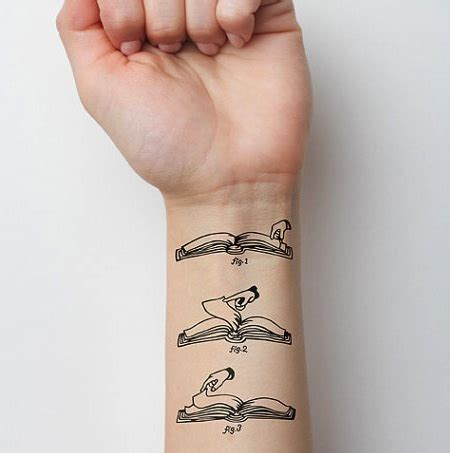 18 ephemeral tattoos for booklovers huffpost
