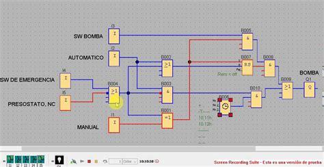 programa de logo soft control de bomba en modo automatico y manual