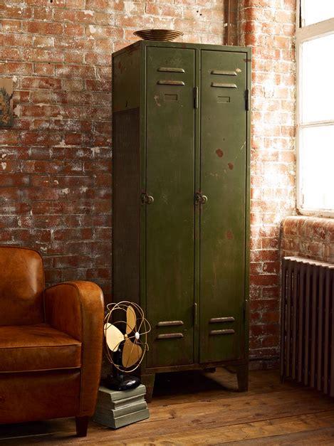 Olive House Metal Chair olive green metal locker furniture home decor