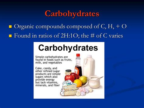 carbohydrates c h o 3 2 molecules of there are 4 classes of organic