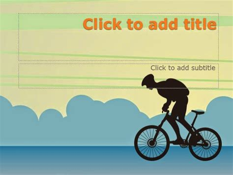 Simple Bike Powerpoint Templates 4 Presentation Bicycle Ppt Templates Free