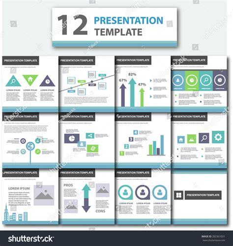 Blue Business Presentation Template Flat Flyer Stock Vector 282361031 Shutterstock Brochure Presentation Template