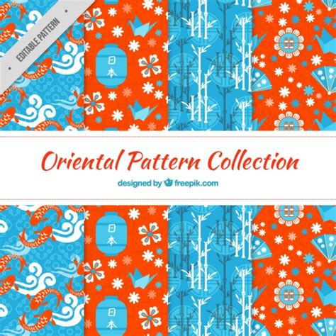 oriental pattern vector free download oriental elements patterns vector free download